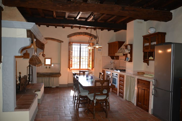 Characteristic apartment with beautiful fireplace - Greve in Chianti - Haus