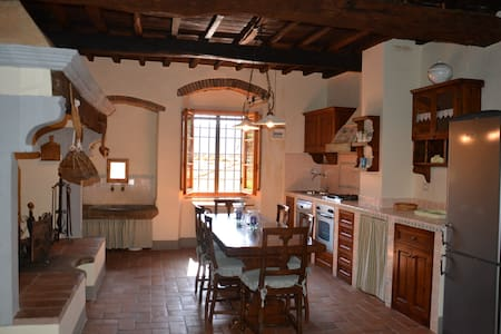 Characteristic apartment with beautiful fireplace - Greve in Chianti - Rumah
