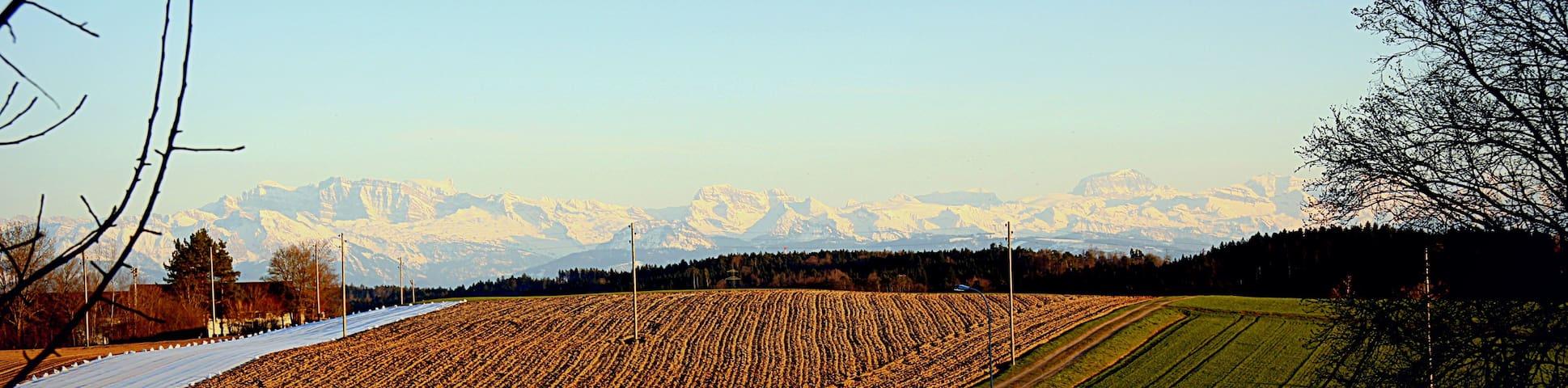 Wohlfühlen in ruhiger Umgebung Zürich mit Aussicht - Illnau - Maison