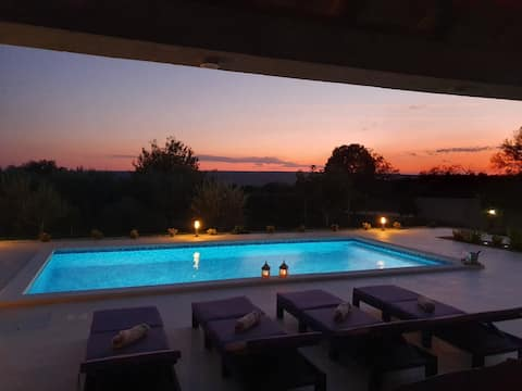 Villa Lorema surrounded by olive trees&vineyard