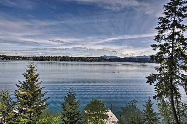 Hillside Home w/Dock, 10 Min to Coeur d'Alene