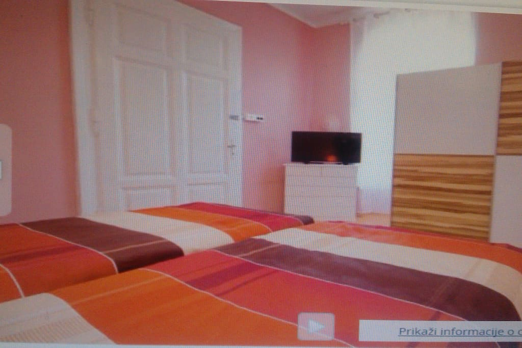 2 bed room ( 14m2) with  SatTv+clima