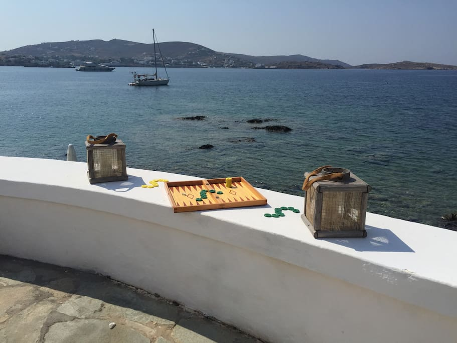 Like a real Greek backgammon needs to be played when the sun sets