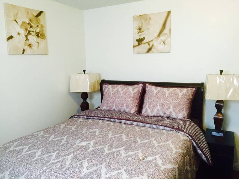 Bedroom and Queen-sized Bed