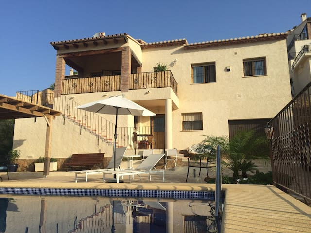 Lovely villa with private pool and amazing view.
