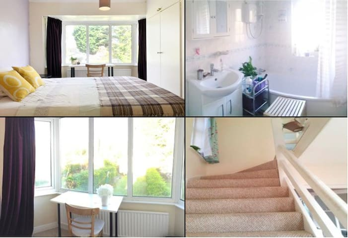 Bay-view king-size bedroom close to University, QE