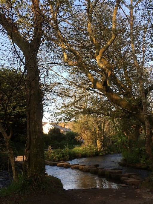 The beautiful River Cober , with stepping stones , is 50 metres from your door.