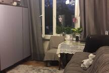 Room in apartament near airport Chopina