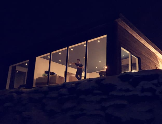 New luxury cabin with panoramic view, Lyngen