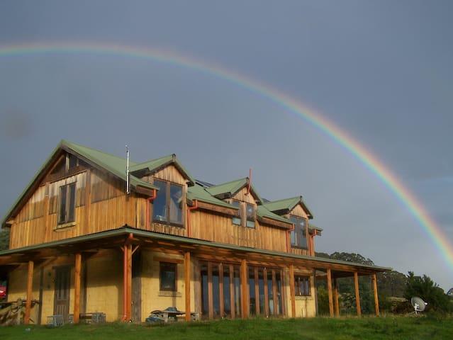 Rainbow over Raoul Bay Retreat