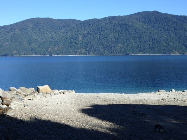 Caburgua lake, own beach