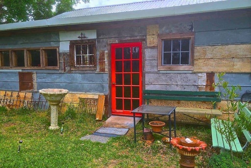 The Pecan Grove bedroom has a private entrance