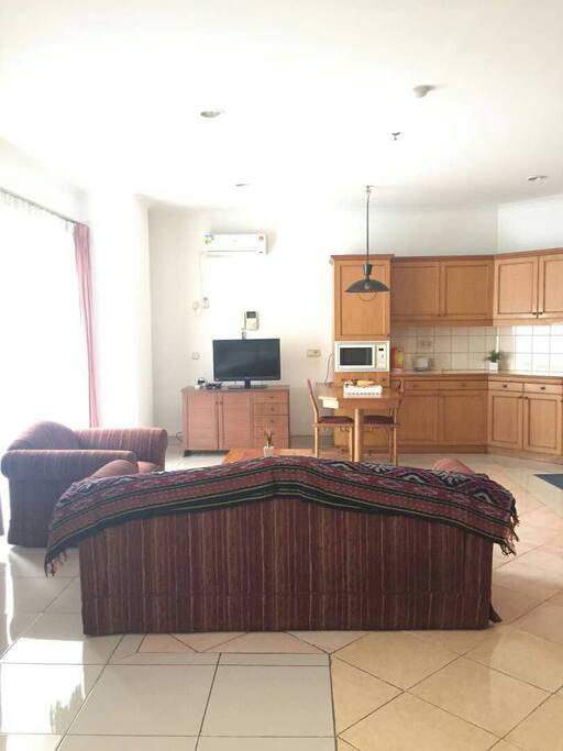 TV,sofa and pantry