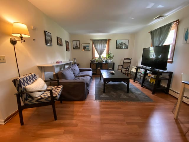 Private and relaxing Newtown 1-bed apartment