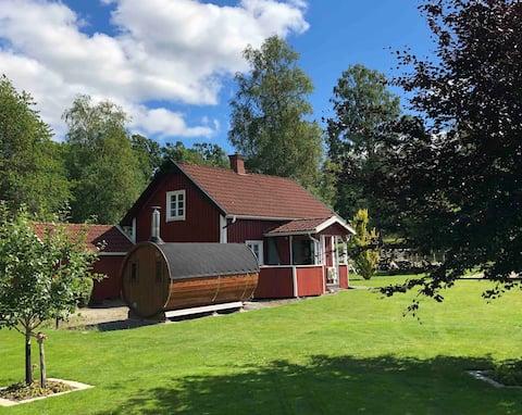 Cottage Isaberg Hestra vlakbij de natuur met sauna