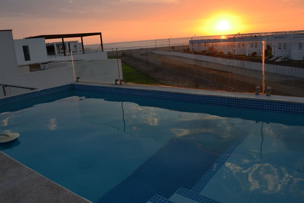 Sunset View from the Terrace Pool.