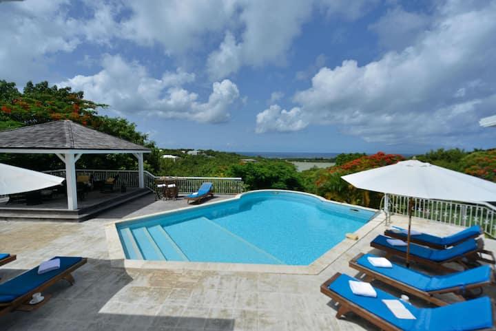 Villa La Savane in Terres Basses by Personal Villas - Beautiful Sunset Over the Caribbean Sea