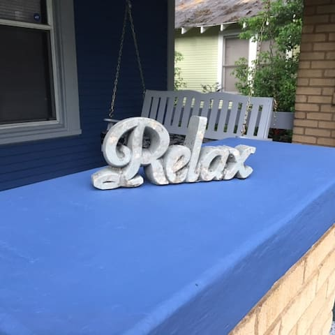 Relax on the front porch swing