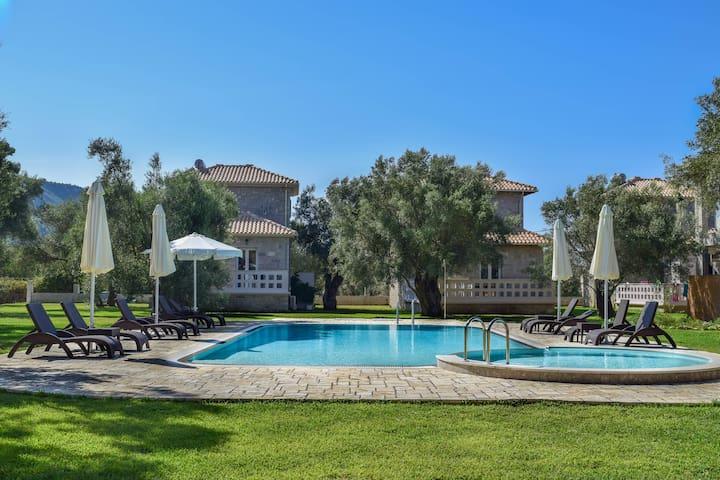 Villa *FRYNI*/5' from sea & center/Mountain View
