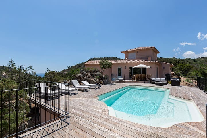 Villa 3 BD heated pool with fence Palombaggia - Porto-Vecchio - House