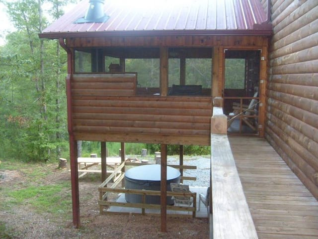 Bear Traxx Sleeps 18 and is Pet Friendly. Inside Coosawattee River Resort - Ellijay, Georgia.
