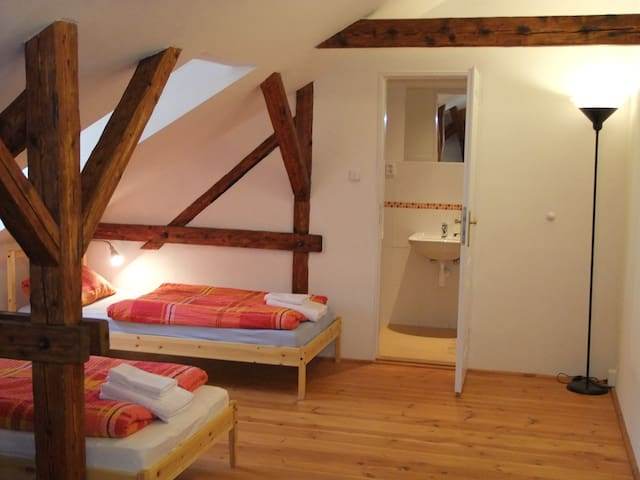 Spacious double bed room in Bečov nad Teplou - Bečov nad Teplou - Bed & Breakfast