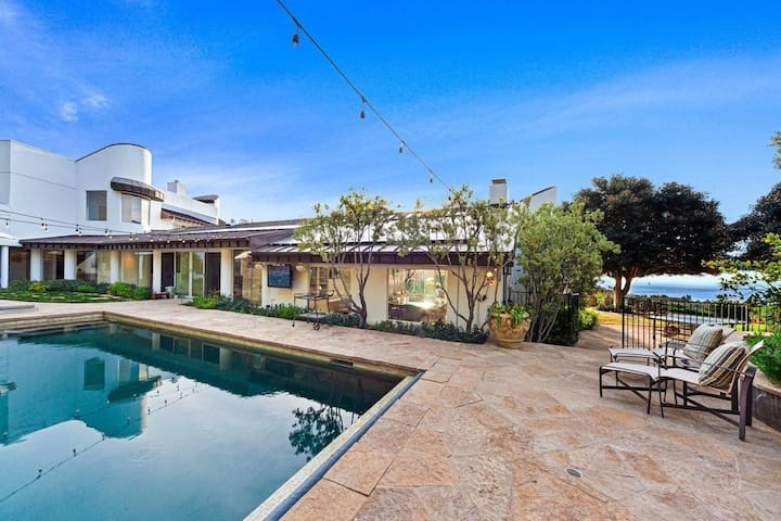 Direct Ocean View Villa, Large Garden with Pool