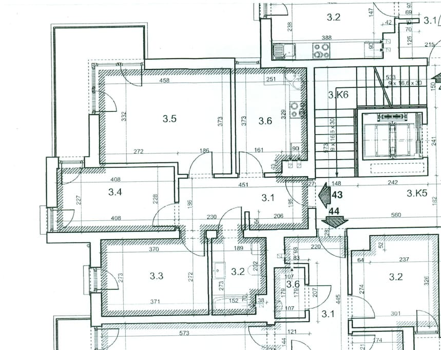 Flat 60m2 rooms apartment world youth day cracow for 60m2 apartment design