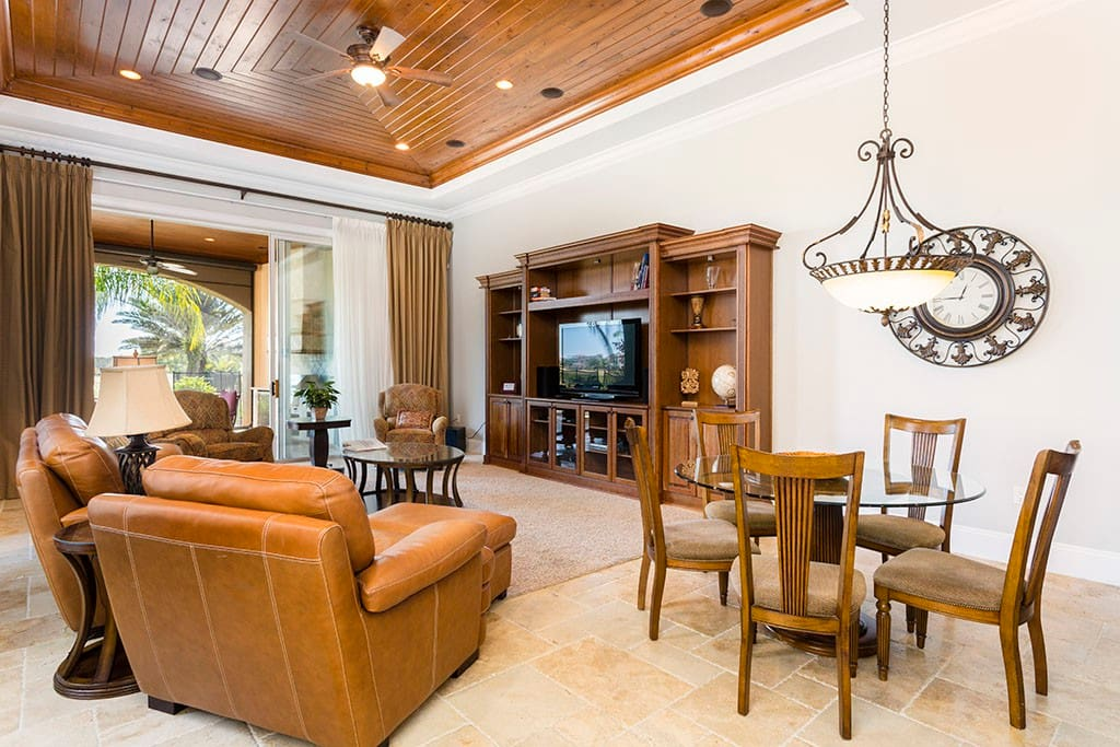 Relax after a long day in the comfortable yet luxuriant living area