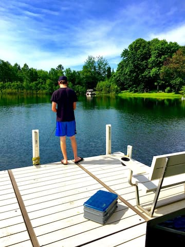Fishing is great right off the dock.
