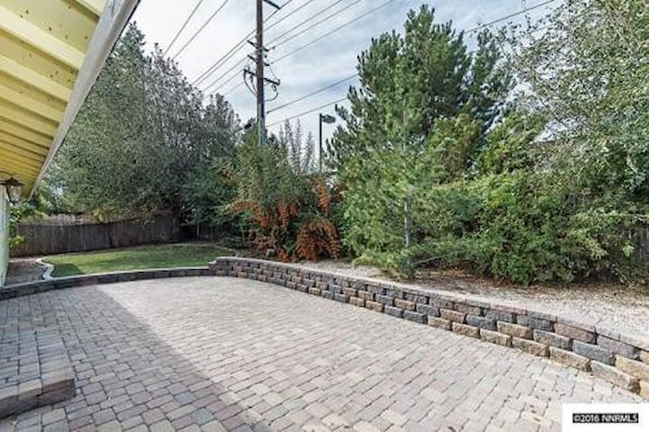 Not only is this backyard yard perfect for kids and bbq's it is secluded and private.