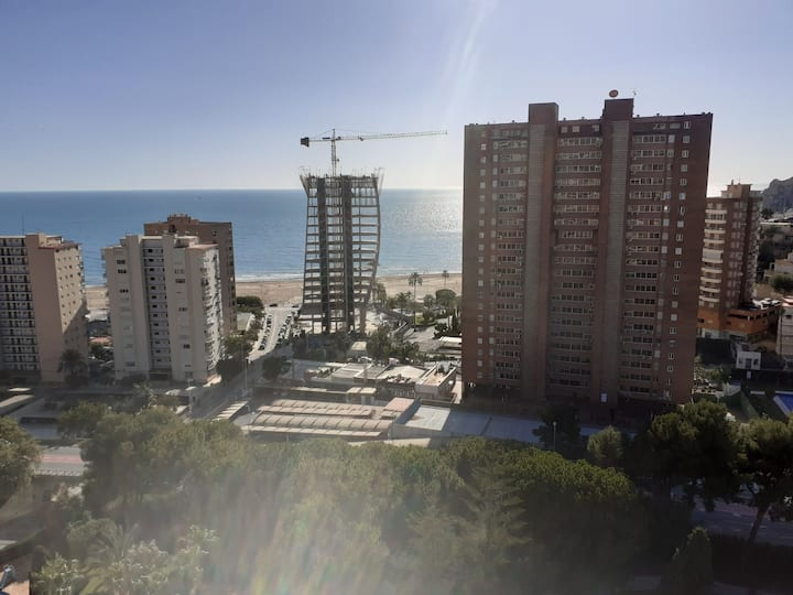 200m Poniente beach, a place to work remotely