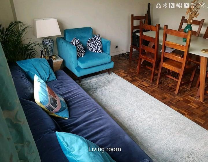 Bright room in elegant flat.