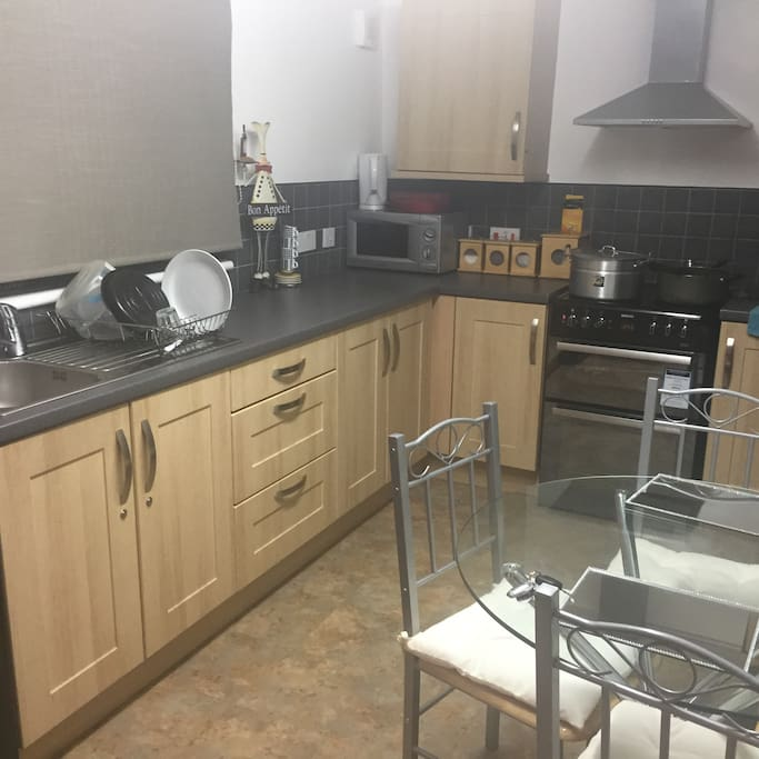 Lovely self contained kitchen ready for a cup of coffee or a quick meal