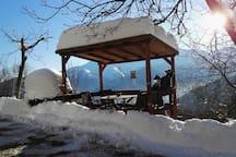 Terrazzino con la neve / terrace with the snow