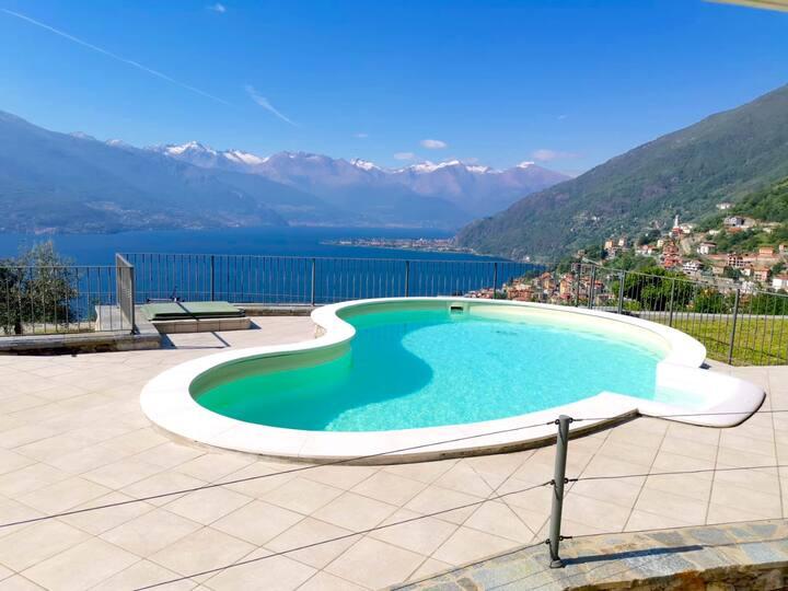 Bellano - Biosio paradisiaca vista lago e piscina