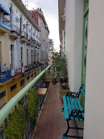 Balcony overlooking Sol street