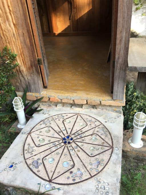 Entrada da cabana