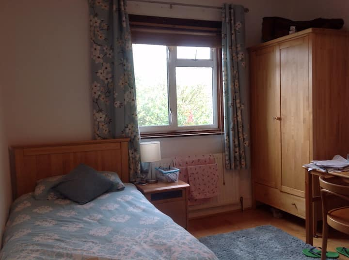 Comfortable twin room in large house.
