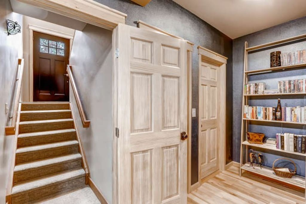 The entry to your blissful area, with a coat closet and storage
