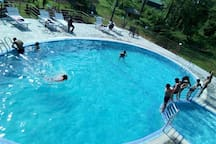 Guest enjoying at pool
