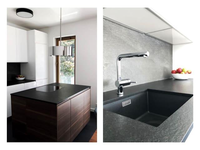 Kitchen with granite details