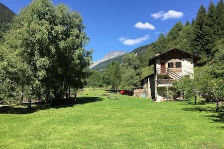 Cabin on The River in Valtellina