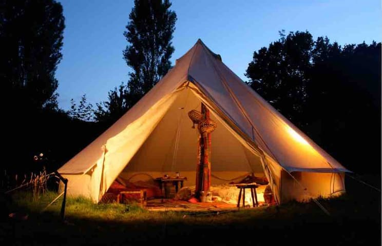 Glamping in de Stad: Tipi tent