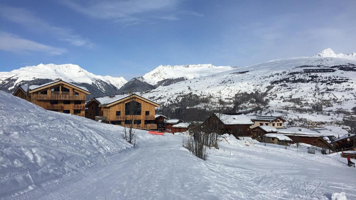 Montchavin Studio rez de chausse vue mont blanc Apartments for