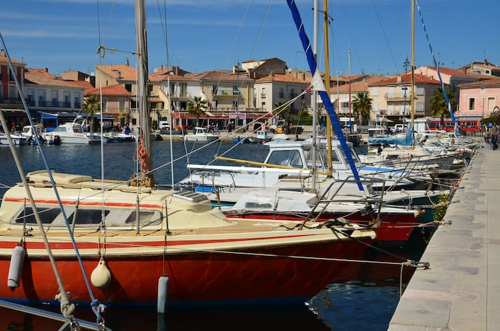 Mèze harbour. Take a boat trip or just enjoy a delicious sea-food platter at one of the port side cafes.