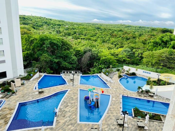 Park Veredas - Flat 303 - Frente para as piscinas