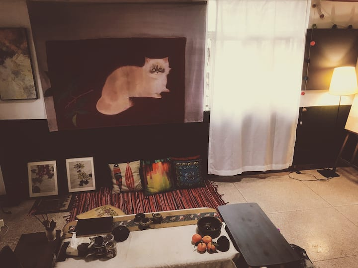 Art house 我的秘密基地/小公园附近独立房间/配电脑