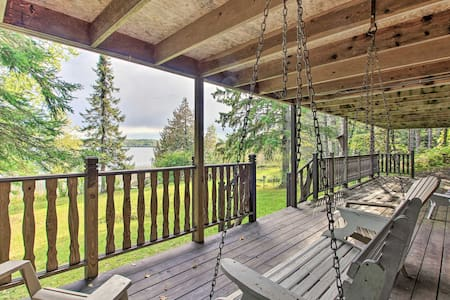 Private Orr Home w/ Fire Pit & Dock on Ash Lake!