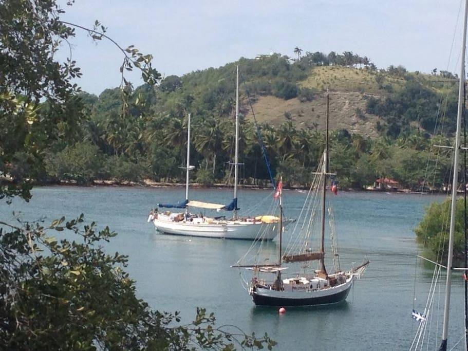 At anchor in Port Morgan Haiti 2015